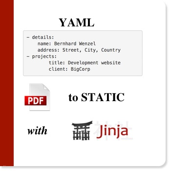 Creating static websites and PDF files with Jinja and YAML