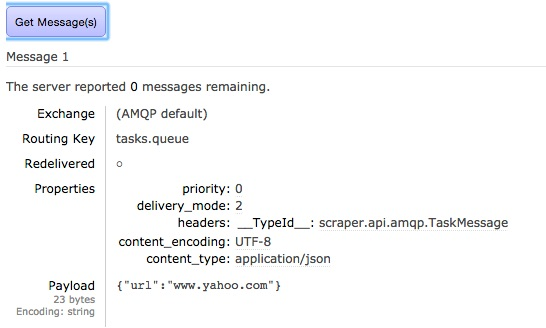 Message in RabbitMQ